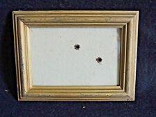 joli petit cadre ancien en bois doré avec son verre idéal portrait 15,5x11,8