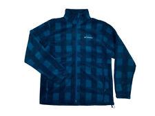 Columbia Mens Granite Mountain Printed Fleece Jacket Blue/Black New