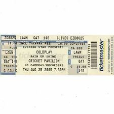 COLDPLAY & Black Mountain COMPLETO Concert TICKET STUB Phoenix 8/25/05 LOGICA Contorta
