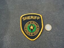 PATCH POLICE ECUSSON COLLECTION  USA   police dallas sheriff
