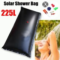 225L Portable Solar Energy Heated Shower Bathing Bag Camping Traveling