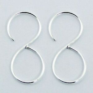 Sterling Silver Infinity Hoops Earrings Symbols Eternity Knots Genuine 925 Wire