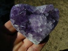 Amethyst Geode Heart from Brazil, 11.80 Oz.  Valentine, gift, display