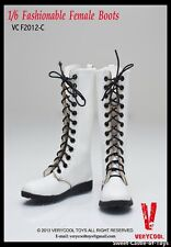 1/6 VeryCool Accessory Set Fashionable Female Leather Boots White Ver VCF2012-C