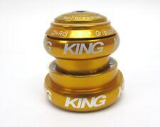 "Chris King NoThreadSet Headset 1 1/4"" Tapered Ec34 Ec44 Gold"