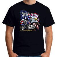 Velocitee Sweat à capuche American Pride Vintage Classic usa moto biker A22813