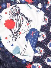 Panel Jersey Stoff Mädchen Blumen Kinderstoff