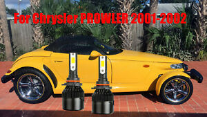 LED PROWLER 2001-2002 Headlight Kit 9005 HB3 6000K White CREE Bulbs Low Beam