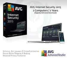 AVG Internet Security 2015 - 2 computer / 2 ANNI PROTEZIONE | Codice di licenza solo