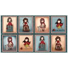 """QT Fabrics My Story by Santoro/Gorjuss 27140 X Picture Patches 24"""" Repeat Cotton"""