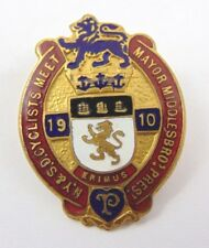 More details for 1910 - richmond cyclist meet enamel badge - n yorkshire & s durham - cycling