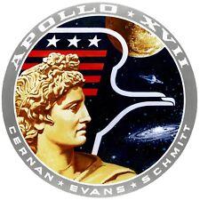 10cm Circular Vinyl Sticker Apollo 17 space shuttle nasa exploration car laptop