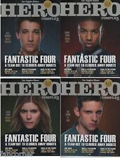 Comic con 2015 set of 4 magazines Hero Complex Fantastic four 4 covers lot sdcc