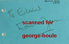 MAURICE JARRE-AUTOGRAPH-1974-VTG-DAVID LEAN-LAWRENCE OF ARABIA-DR. ZHIVAGO-AA