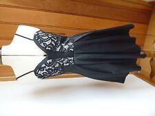 ARIANA LIPSY SEXY BLACK IVORY LACE TOP PROM PARTY COCKTAIL MINI DRESS UK 8 BNWT