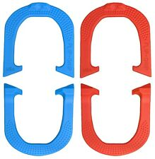 Flip-Grip Pro Professional Pitching Horseshoes- 2 Pair, Red/Blue, Made in USA