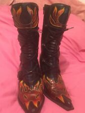 New Rock Ladies Leather Biker/Gothic  Style Boots Size 7