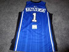 MIKE KRZYZEWSKI Coach K Duke Blue Devils SIGNED #1 JERSEY w/ BAS COA New XL