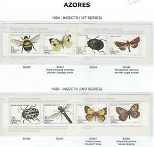 AZORES 1984 & 1985 BOOKLETS - INSECTS (1st & 2nd SERIES) - MNH