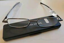 FLAT COMPACT New, Men's Foster Grant +2.50 GAVIN Folding Reading Glasses Readers