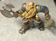 2002 WARCRAFT DWARF MURADIN BRONZEBEARD FIGURE With Hammer And Axe Accessories