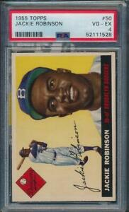 1955 Topps Jackie Robinson #50 PSA 4 Card is a Beauty PWCC-S easily a 5 or 6 e10