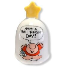 """Vintage 1982 Ziggy & Dog Fuzz Porcelain Bell~ Have A Bell Ringing Day! w Star 4"""""""