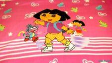 Dora the Explorer Hearts Butterflies Pink Fleece Panel Fabric-BTP