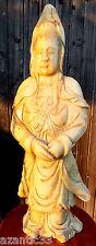grande sculpture statue pierre dure Asie Chine divinité 71 cm