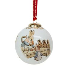 Reutter Peter Rabbit 150th Anniversary Porcelain Christmas Tree Bauble