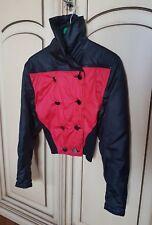 giubbino giacchino rosso nero donna doppio petto moto imbottito 38 40