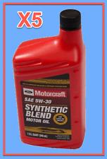 5 X OEM FORD Engine Motor Oil Motorcraft XO5W30QSP SAE 5W-30 Premium Synthetic