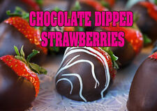 """CHOCOLATE DIPPED STRAWBERRIES 24""""x18"""" LARGE HANGING COUNTER WALL FOOD SIGNS"""
