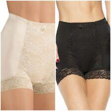 Rhonda Shear Lace Control Panty 1XL Style # 3867C -2 pack-1 Beige & 1- Black