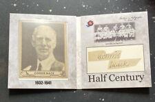 Connie Mack Auto * Case Hit * Half Century Historic Autographs 2020 Baseball