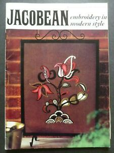 JACOBEAN EMBROIDERY in modern style - Coats Sewing Group Book No. 1056, 1968