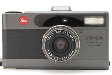 [Super Rare!! Top MINT] Leica Minilux Zoom BLACK BOGNER Model w/Case From JAPAN