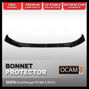 Bonnet Protector for Ford Ranger PX MK II & III 2015-21, Raptor, Tinted Guard