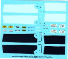 1969 Camaro RS Z28 SS 1/25 waterslide decal sheet black white stripes model car