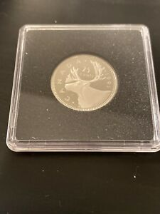 VERY RARE! 1991 Canada UNC Proof 25 Cent Quarter, In Capsule