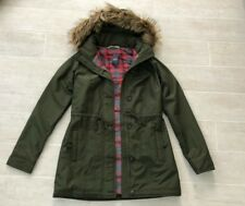 New Hollister Abercrombie & Fitch Women Whispering Sands Parka Jacket- Olive - S
