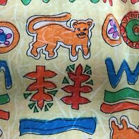 Adini India Vintage S Small Tiger Printed Cotton Boho Hippie Pockets Midi Skirt