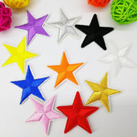 10/50X Star Embroidered Iron On Patch Clothing Applique Badge Stickers DIY Craft