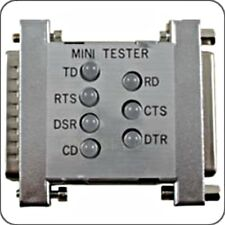DB25 RS232 Mini Tester with LED's for signal testing