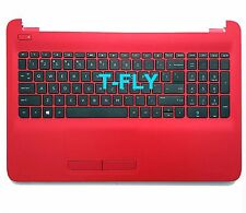 NEW 813979-001 Hp Red Palmrest Us Keyboard 15-AF175NR 15-AC134DC US Seller