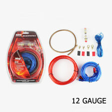 Complete 12 Ga Gauge Amp Kit Amplifier Install Wiring Sub Audio Rca Power Cables