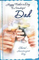 Wonderful DAD - LARGE Quality FATHER'S DAY card, Fathers Day Cheers! Beer Design