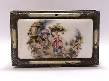 Vintage Japan Hand Painted Porcelain Retro Music Box