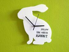 Follow the White Rabbit Alice in Wonderland - Wall Clock