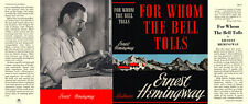 Ernest Hemingway-Facsimile jacket for Whom The Bell Tolls 1st ed and early edns.